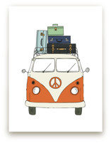 The Peace Van on the Road Art Prints