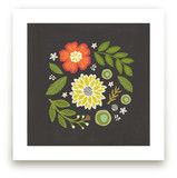 Floral Swirl Art Prints