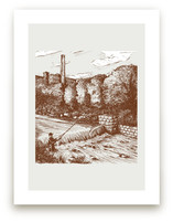 vintage fly fishing Art Prints