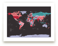 All The Countries Of The World Art Prints
