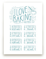 I Love Baking And Math Art Prints