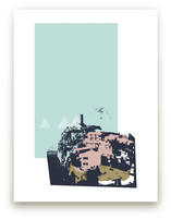 cinque terre collage Art Prints