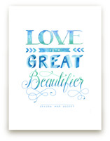 Love Beautifying in Watercolor Art Prints