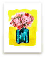 Peony Bottle Art Prints
