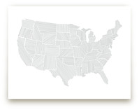 Modern American Map Art Prints
