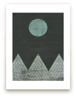 Blue Moon Over Mountains