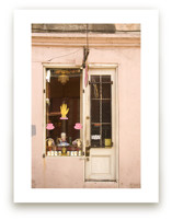 New Orleans French Quarter Pink Facade