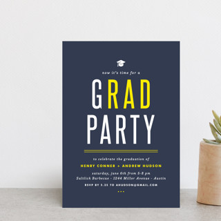 gRAD party Graduation Announcement Postcards
