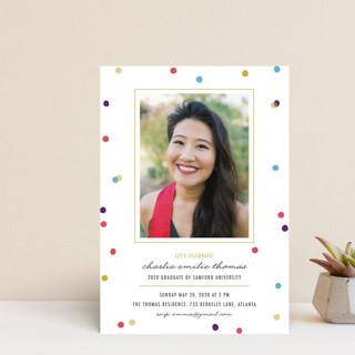 flecks of confetti Graduation Announcement Postcards
