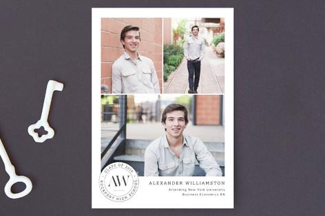 Insignia Graduation Announcement Postcards