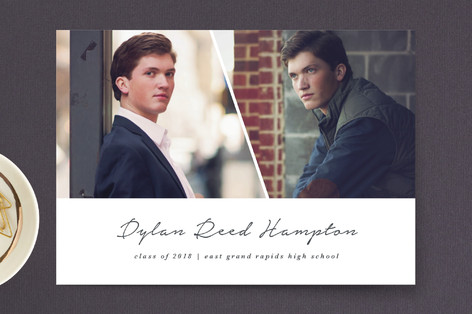 Fresh Edge Graduation Announcement Postcards