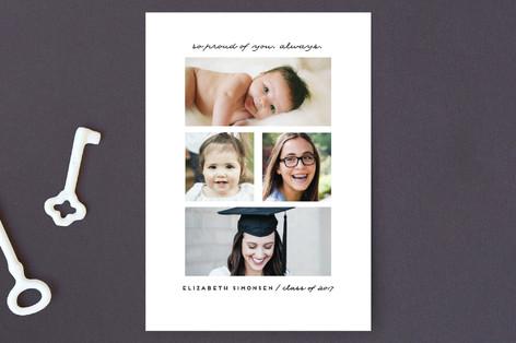 Always Proud Graduation Announcement Postcards