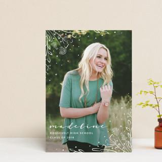 Wildflower Graduation Announcement Postcards