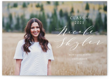 Scripted Name Graduation Announcement Postcards