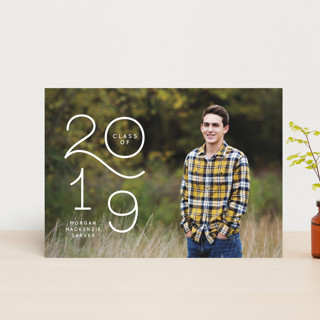 Colorful New Year Wishes Graduation Announcement Postcards