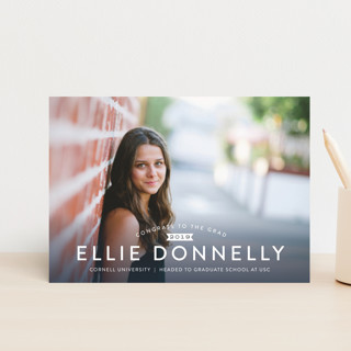 Name in Bold Graduation Announcement Postcards