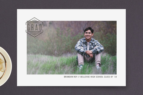 seal of approval Graduation Announcement Postcards