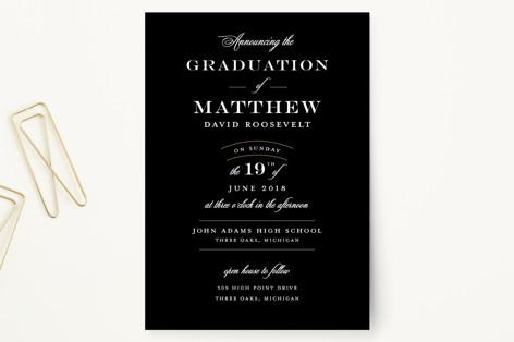 Formal Announcement Graduation Announcement Postcards