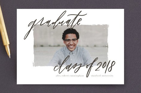 Graduate scripted Graduation Announcement Postcards