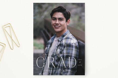 pastille Graduation Announcement Postcards