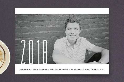 Striking Grad Graduation Announcement Postcards