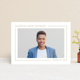Simply Serene Graduation Announcement Postcards