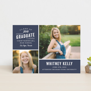 Industrial Type Graduation Announcement Postcards