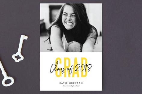 Bold Highlight Graduation Announcement Postcards