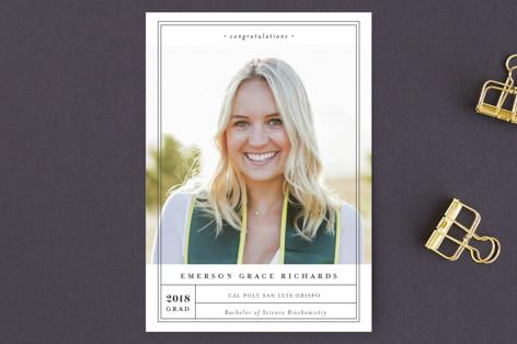 Grad Label Graduation Announcement Postcards