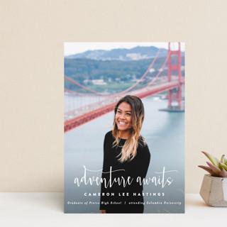 Adventure Awaits! Graduation Announcement Postcards