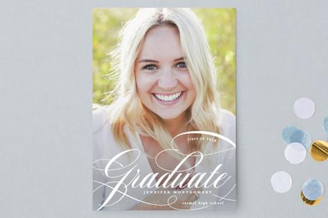 Glam quotient Graduation Announcement Postcards