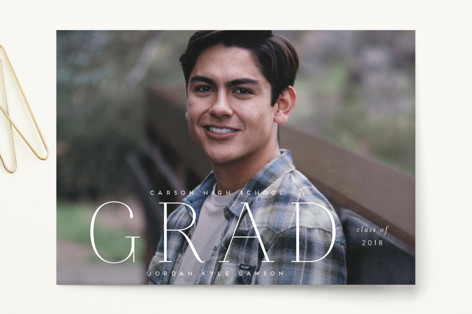 pastille Graduation Announcement Postcards