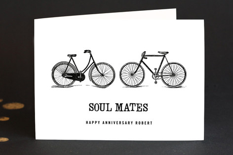 soul mates Anniversary Greeting Cards