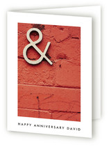Bricks Anniversary Greeting Cards