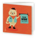Bang Bang Meow Kids Birthday Greeting Cards