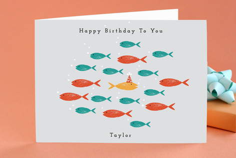 In the Sea Kid's Birthday Greeting Cards