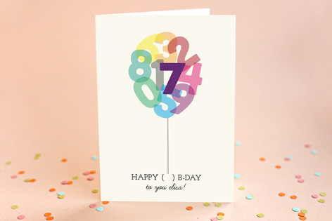 Going Up Kid's Birthday Greeting Cards