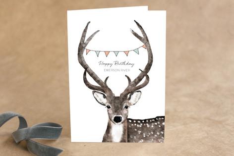 Deer Greeting Kid's Birthday Greeting Cards