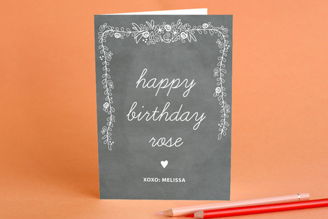 Chalkboard Greeting Cards