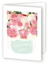 Peonies in Vase Greeting Cards