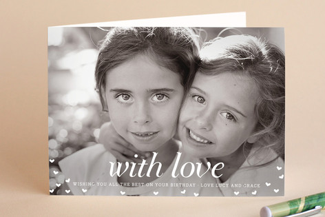 With Love Birthday Greeting Cards