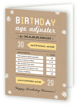 Age Adjuster Greeting Cards