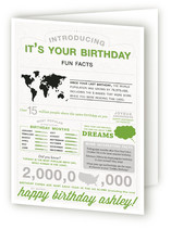 Birthdays & Infographics Greeting Cards