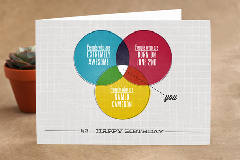 A Very Venn Birthday Birthday Greeting Cards