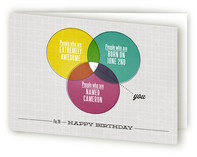A Very Venn Birthday Greeting Cards