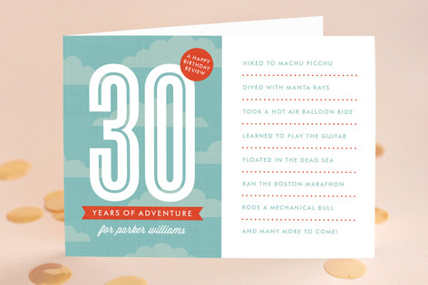The Adventurous Life Birthday Greeting Cards