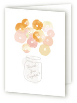 Summer Pickled Poppies Adult Thank You Greeting Cards