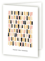 In A Row Adult Thank You Greeting Cards