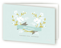 Merci Banner Adult Thank You Greeting Cards