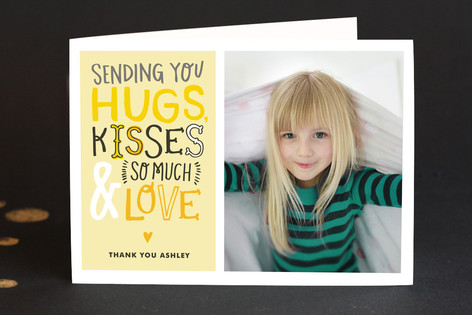 Doodle Words Photo Adult Thank You Greeting Cards